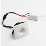 Mini LED inbouwspot 3W vierkant zaagmaat 36mm