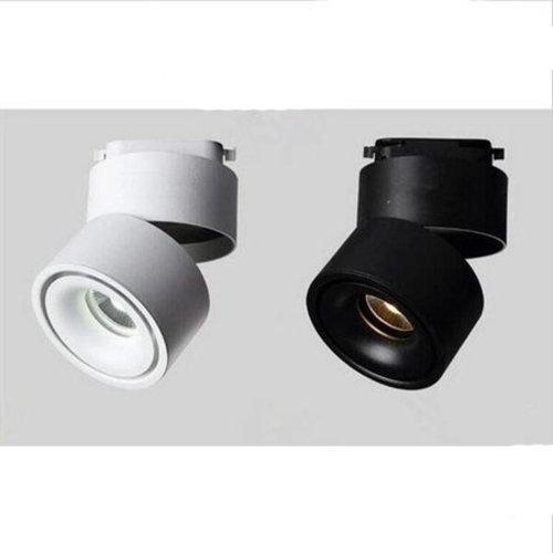 Spot sur rail salon noir ou blanc 9W LED dimmable