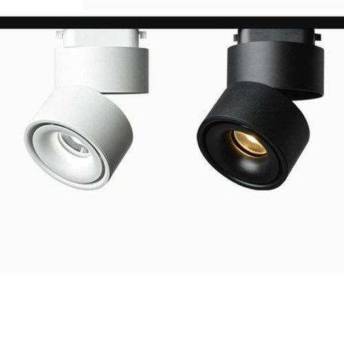 Railverlichting zwart of wit 9W LED dimbaar