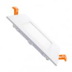Inbouwspot plat vierkant LED 6W dimbaar 120mm diameter dimbaar