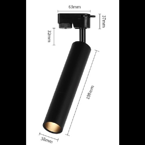 Luminaire rail LED blanc ou noir 10W LED monophase