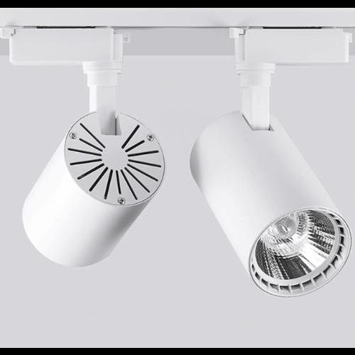 Railspot LED 12W wit of zwart