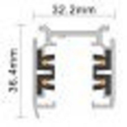 Rail triphase blanc ou noir 2m