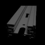 Rail monophasé blanc ou noir 1m