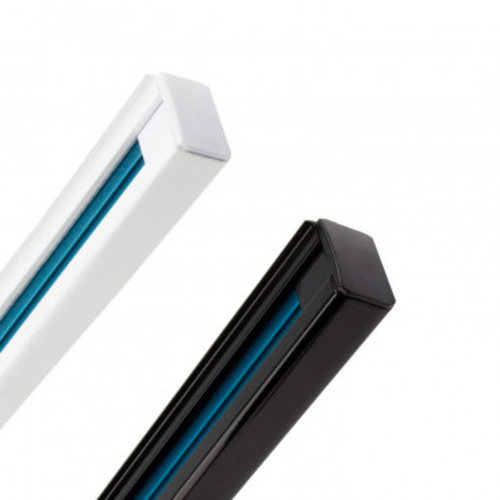 Spanningsrail 1 fase wit of zwart 2 meter