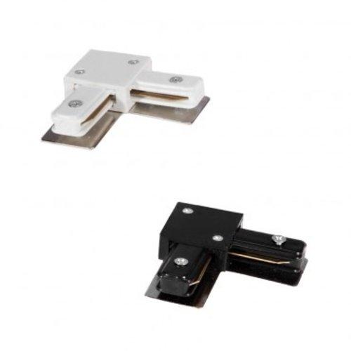 Connecteur L pour rail monophasé blanc ou noir