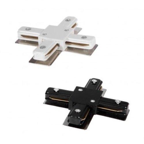 Connecteur X pour rail monophasé blanc ou noir