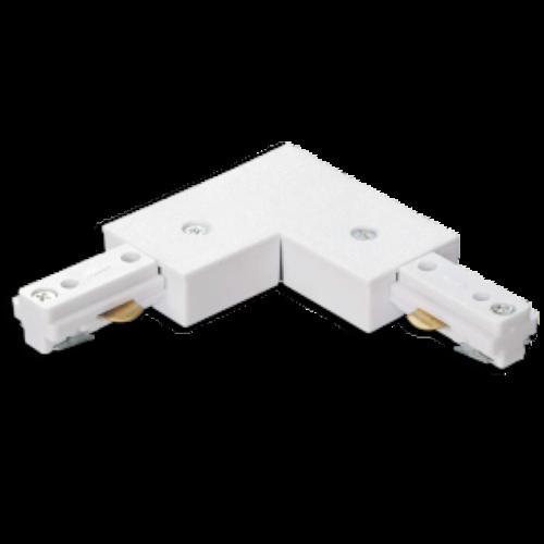 Connecteur L pour rail triphasé blanc ou noir