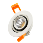 Inbouwspot kantelbaar 7W LED 75mm zaagmaat lage inbouwdiepte dimbaar