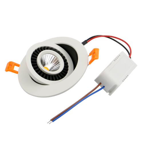 Spot faible profondeur 7W LED inclinable dimmable perçage 75 mm