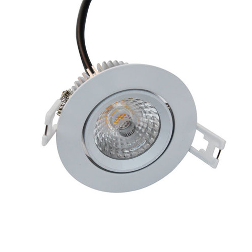 Spot encastrable IP44 LED dimmable inclinable perçage 70 mm