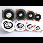 Inbouwspot zaagmaat 90mm 10W LED lage inbouwdiepte dimbaar driverless