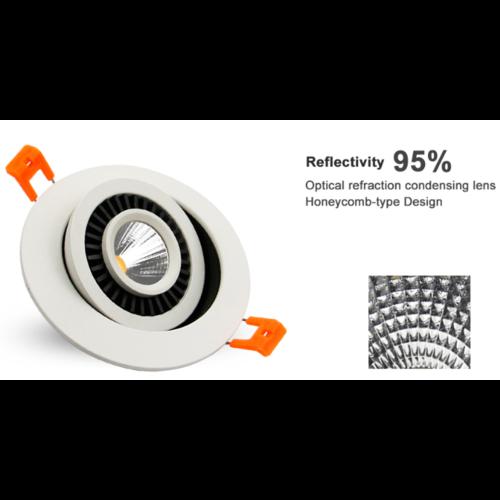 Spot extra plat LED 10W diamètre 110 mm dimmable pas besoin de transfo