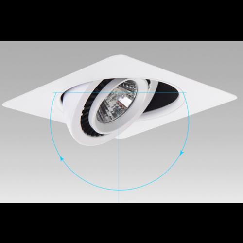 LED inbouwspot zaagmaat 60mm 5W kantelbaar vierkant wit of zwart dimbaar