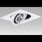 Ondiepe inbouwspot LED 7W kantelbaar zwart of wit vierkant