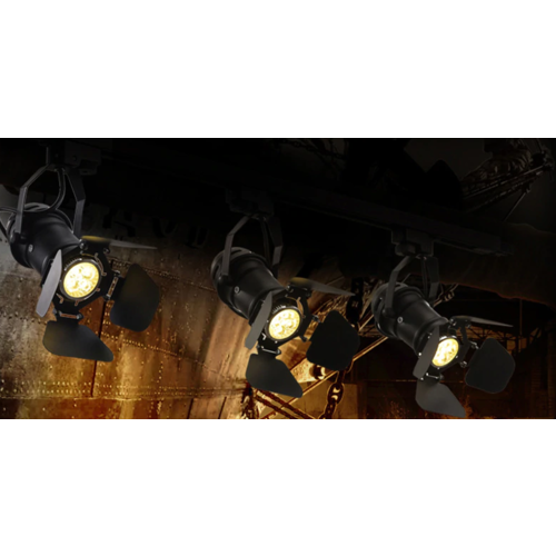 Retro plafondspot studio richtbaar zwart E27