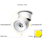 Spot plafond design LED 7W ou 10W orientable dimmable