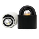Downlight saillie noir LED 7W ou 15W orientable dimmable