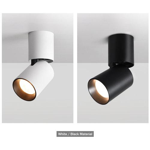 Spot LED opbouw plafond zwart 7W dimbaar richtbaar