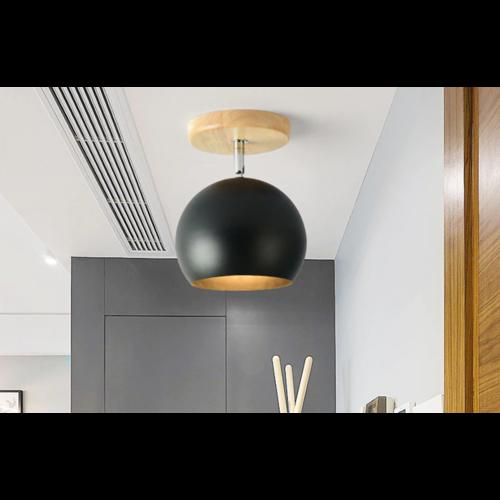 Spot Scandinave plafond boule blanc, noir ou gris