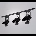 Railsysteem spot vintage stijl zwart E27 monofasig