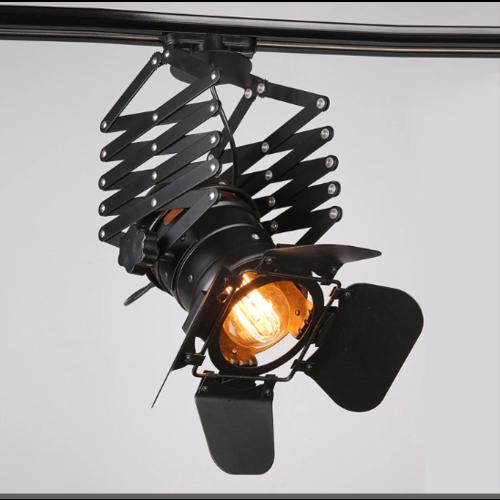 Industriële railverichting zwart E27 monofasig