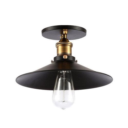 Spot plafond industriel noir E27 diamètre 22, 26 ou 30 cm
