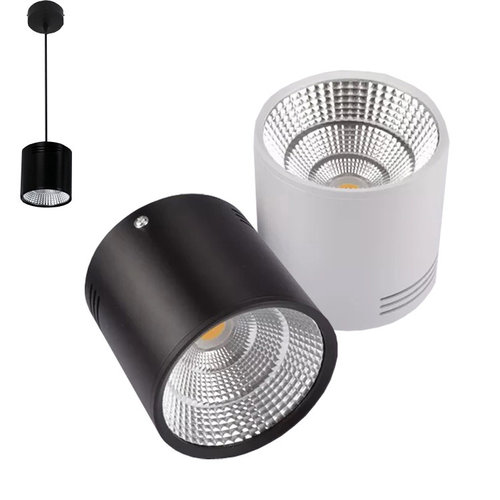 Spot LED en saillie blanc ou noir 20W ou 30W dimmable