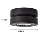 Spot LED saillie extra plat 7W blanc ou noir inclinable