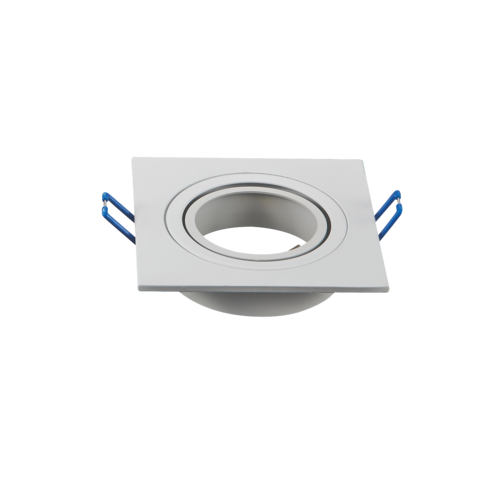 Spot encastrable 230V GU10 perçage 75mm carré blanc