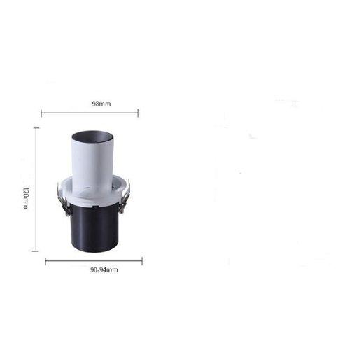 Spot encastrable extensible LED 10W noir ou blanc
