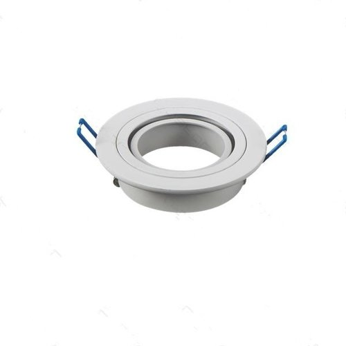 Spot 75mm encastrable GU10 inclinable blanc rond 230V