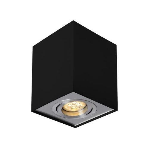 Spot saillie orientable noir GU10 carré 220V
