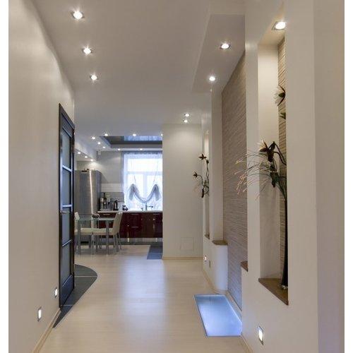 Spot étanche salle de bain IP65 carré gris GU10