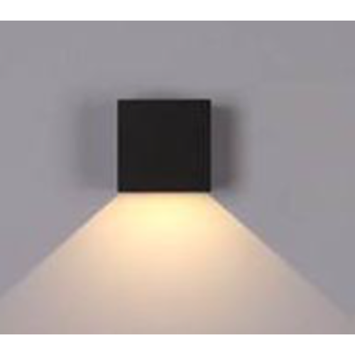 Wandlamp buiten zwart 5W