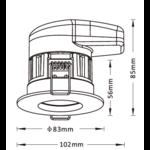 Plafond inbouwspot 7W LED wit, zwart, zilver of nikkel 70mm dimbaar