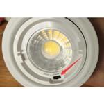 Spot réglable 3 lumières encastrable 7W LED noir-gris-nikkel dimmable