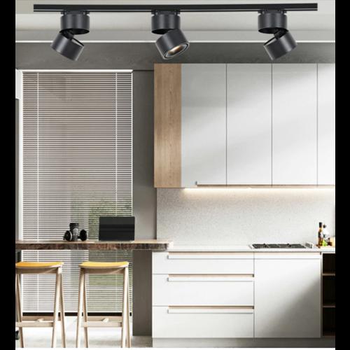 LED opbouwspot zwart design 7W of 10W richtbaar dimbaar