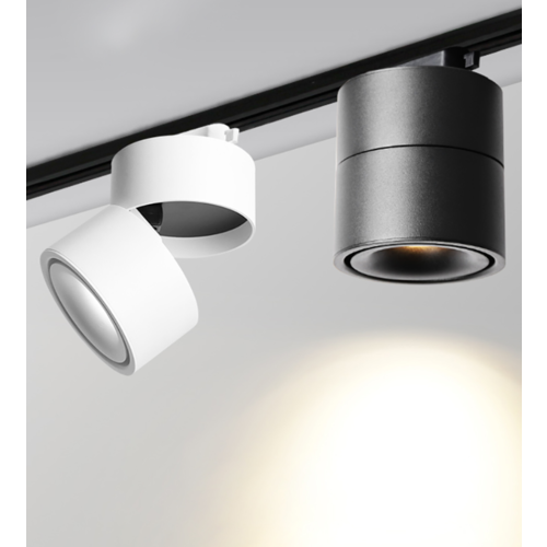Spot noir design LED 7W ou 10W orientable dimmable