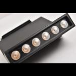 Projecteur sur rail monophasé ou triphasé blanc ou noir 12W LED