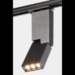 Spot sur rail design 6W LED salon blanc ou noir monophasé ou triphasé