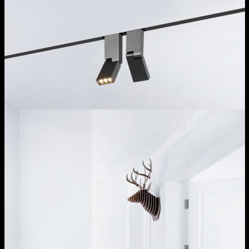 LED railverlichting 6W woonkamer wit of zwart 1 fase of 3 fase
