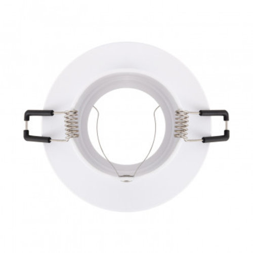Inbouwspot 100mm diameter GU10 wit rond