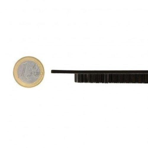Spot encastrable diametre 120 mm noir 6W LED faible hauteur dimmable