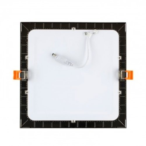 Spot extra plat noir carré LED 12W diamètre 174 x 174 mm dimmable