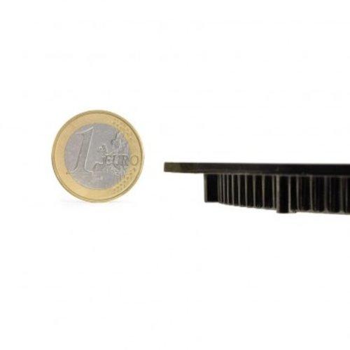 LED inbouwspot vierkant zwart 18W 205 x205mm zaagmaat
