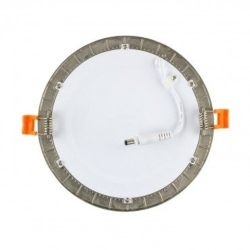 Dalle LED ronde grise encastrable 6W diamètre perçage 110 mm dimmable