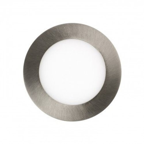 Spot grijs inbouw LED 6W rond zaagmaat 110mm