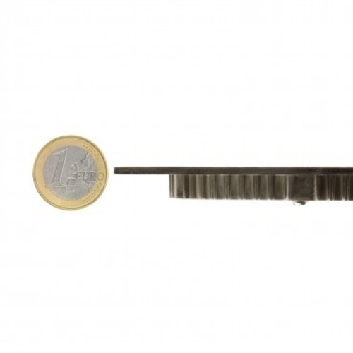 Dalle LED extra plate 18W rond diamètre 225 mm gris