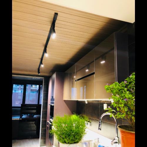 Spot LED sur rail 20W design blanc ou noir dimmable